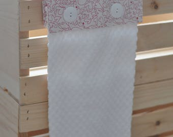 Cute as a Button Hanging Towel--Hearts