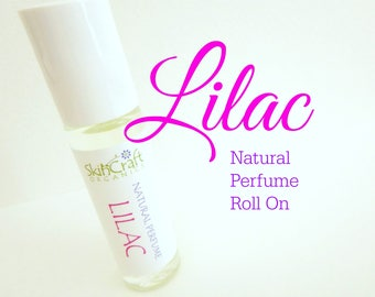 Lilac Perfume - Perfume Oil - All Natural Lilac Fragrance & Essential Oils - Lilac Roll On Perfume - .3 oz Glass Bottle