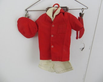 Vintage 1960's Ken doll outfit, Sport Set, leisure short set with shorts, shirt, jacket with cap and socks