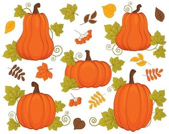 pumpkin clipart vector pumpkins clipart pumpkin clipart rh etsy com clip art pumpkins printable clip art pumpkins for halloween
