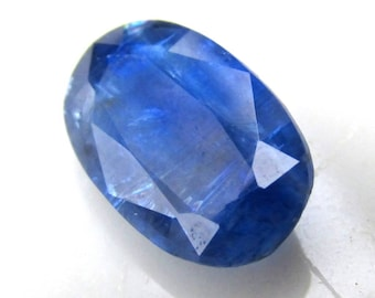 4.2ct Kyanite Faceted Stone - 13x8mm Oval - Jewelry Supply