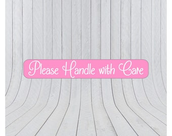 Handle with care stickers, packaging labels, handle with care labels, shipping labels, mail stickers, please handle with care stickers, 025