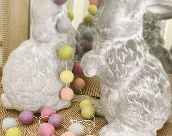 Rainbow Pastel Garland, Felt Ball Garland, Spring, Pom Pom Garland, Nursery,  Playroom Decor, Pom Pom Garland