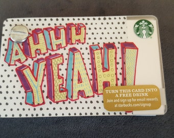 Starbucks Upcycled Refillable Giftcard Notebook - 2015 Ahhh Yeah!