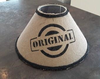 """""""Original"""" covered burlap lamp shade - model 001"""