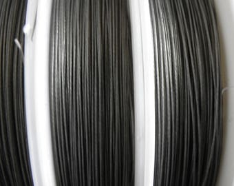 Reel 100 m wire 0.38 mm shiny black