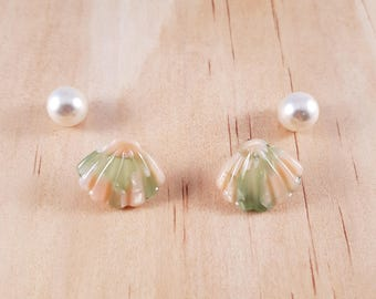 Shall N Pearl earrings - 2colours