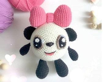Panda crochet handmade toys for children