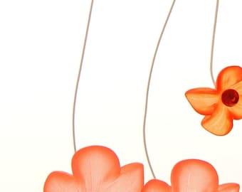 Laura Q Deep orange and salmon lucite earrings