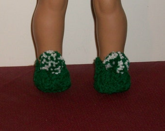 18 inch Doll Slippers in Kelly Green