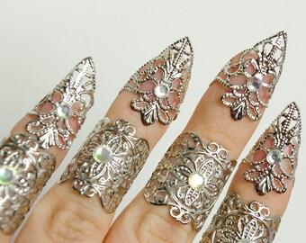 elven armor - Silver elven claws
