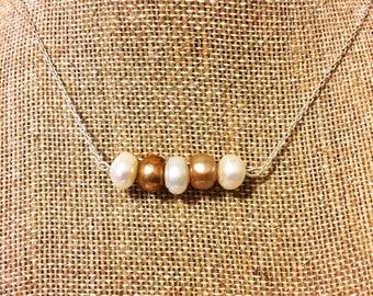 Café au Lait Pearl Necklaces