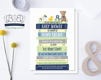 Book Baby Shower Invitation / Book Story Baby Shower Invitation / Bring a Book Invitation / Book Themed Baby Shower / Baby Shower Invitation