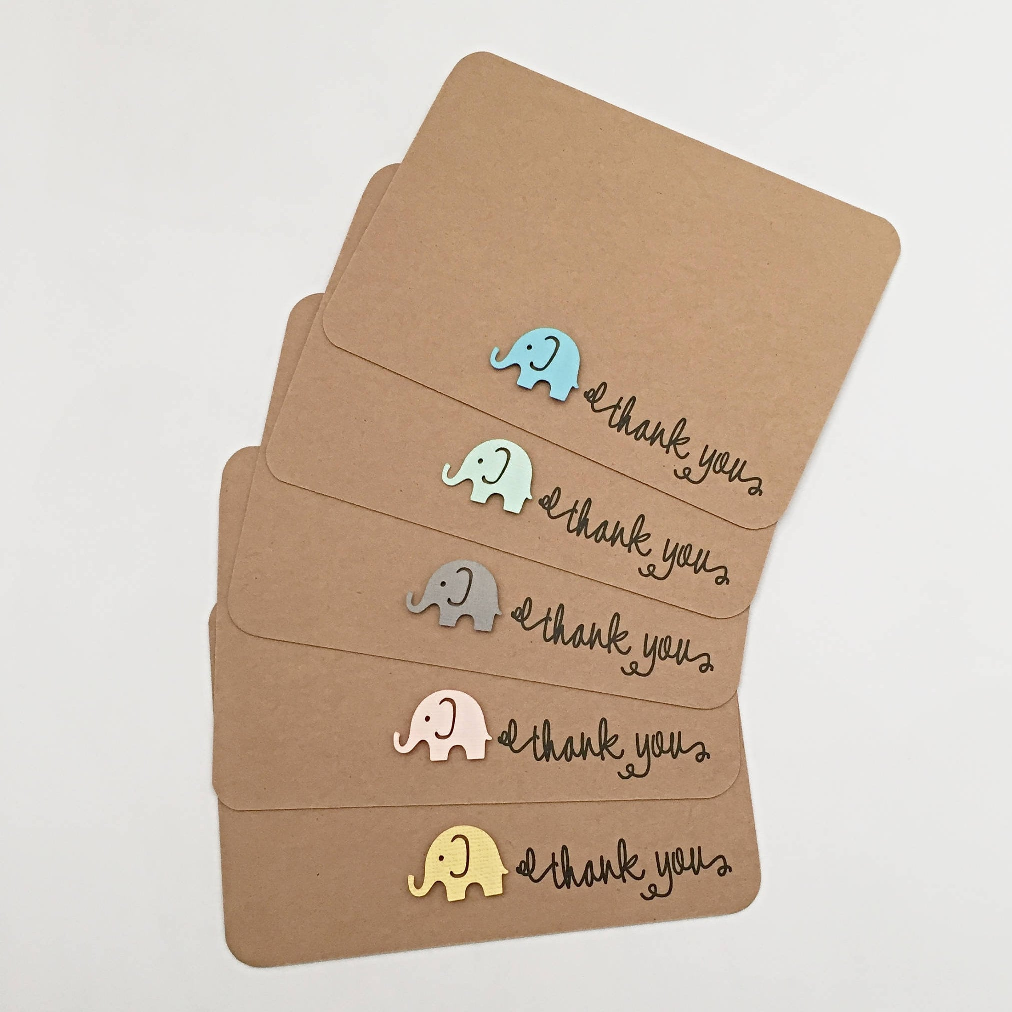 10 x Baby Shower Thank you cards Baby Elephant Thank You