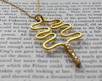 christmas tree necklace, gold necklace, gold tree, festive jewellery, handmade tree, xmas tree, christmas jewellery, christmas necklace