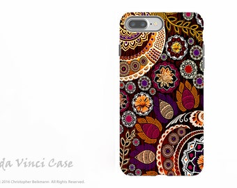 Autumn Paisley Mehndi - Artistic iPhone 7 PLUS - 8 PLUS Tough Case - Dual Layer Protection - Autumn Mehndi