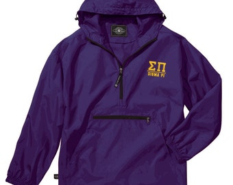 Sigma Pi Pack-N-Go Pullover (light gold embroidery)