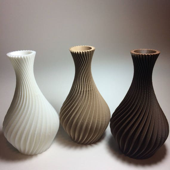 3d Printed Spiral Vase Planter Free Shipping