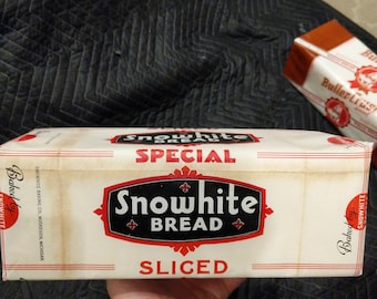 1940's Snowhite Sliced Bread Display Loaf - Bakery - Old  & Original - Muskegon, Michigan - Snowhite Baking Co.