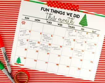 Christmas Memories Printable