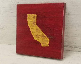 "Any Color, Any State, Custom State Wall Art, California, USC, Bruins 5""x 5"""