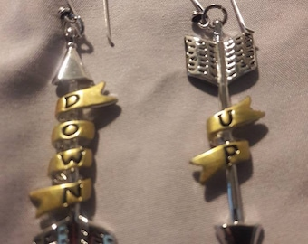 Up is Down, Down is Up Arrow earrings
