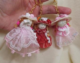 Miniature Dolls. Doll Pendant, Ornaments. Key Chains. Dollhouse Toys, Dolls. Rag Dolls. Cloth Dolls. Party Favors. Kelly, Barbie Toys, Dolls