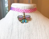 Rainbow Tattoo Choker, Bu...