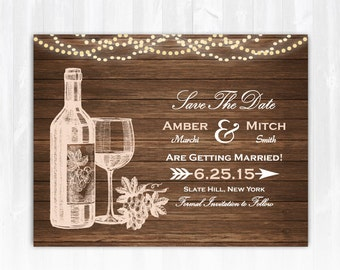 Winery Save The Date Magnet DIY Vineyard Save The Date Wine Save The Date Wood Winery Wedding Save The Date Wine Bottle Save The Date