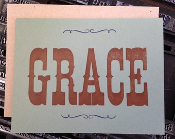 Greeting Card, GRACE