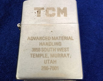 King Wind Proof Pocket Lighter TCM Advertising Murray, Utah