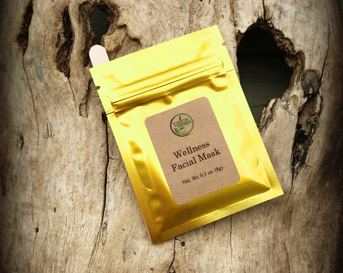 Herbal face mask - Wellness face mask - facial mask - single use clay mask - herbal shops - face mask skincare - herbal skin product - clay