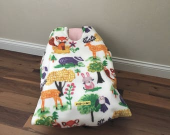 Infant Car Seat Blanket, woodland car seat cover, car seat carrier blanket, car seat coat, winter travel, car seat cover, baby shower gift