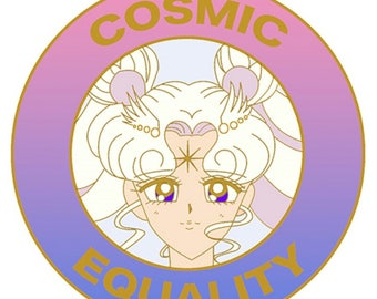 SAILOR Moon COSMOS new enamel hard pin, Sailor Senshi Cosmic Equality LGBTQ