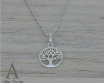 925 Sterling Silver Necklace Pendant Tree Of Life jewellery Atlas Charm