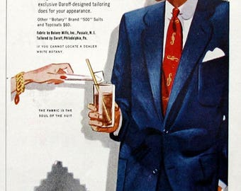 1953 Botany 500 Suit ad - Tailored by Daroff - Sharp Dressed Man - Vintage 1950's Men's Apparel Ads