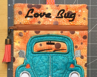 Love Bug Zippered Bag