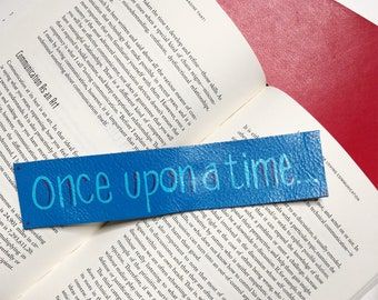 Once upon a time - Leather Bookmark