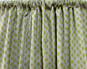 VALANCE in Sahara Honeydew unlined  50x20