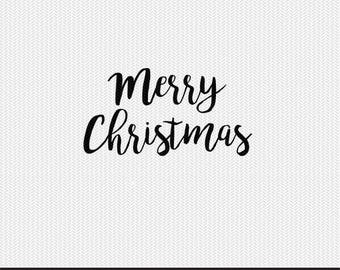 merry christmas svg dxf file instant download silhouette cameo cricut clip art commercial use