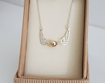 Golden Snitch Inspired Necklace - Sterling Silver/Gold