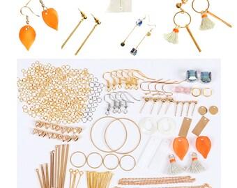 Diy Earring Kit, Earring Making, Minimalist geometric Earrings, Hoop Earring Finding, Blanks Bar, craft earring, make earring, 1 Kit