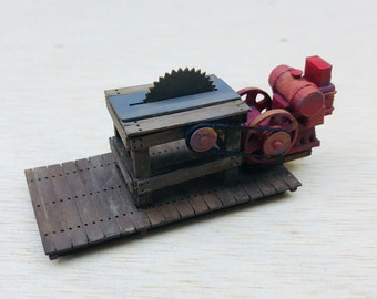 Model Railroad O Scale (1:48) Gasoline Powered Table Saw
