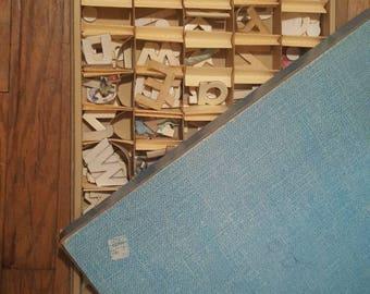 Vintage die cut letters