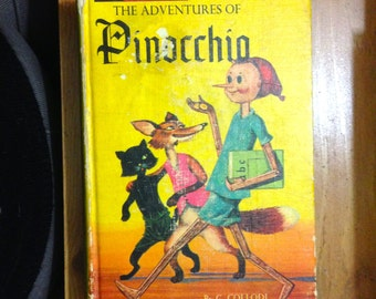 1965 Pinocchio and The Story of King Arthur and His Knights in One Book