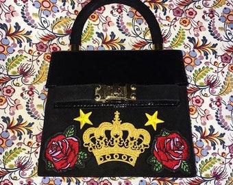 Crown and Roses Evening Handbag