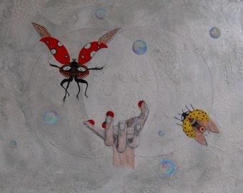 Fantasie schilderij 'Time Framed'  /  Fantasy painting 'Time Framed