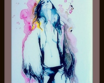 Moulin Rouge Fashion Print from Original Watercolor Painting - Fashion Series of Wanderlust