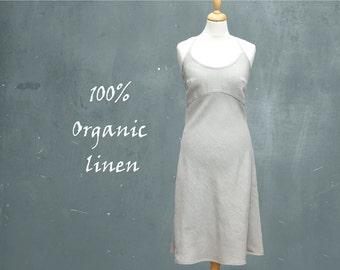 organic linen summer dress, linen beach dress, recyclable dress, fair trade dress, fair trade, fair fashion, sustainable clothing