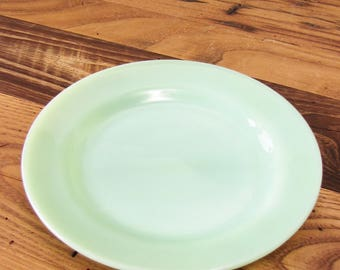 "Vintage 8"" Rare Jadeite Lunch Plate Restaurant Ware Single Medium Fire King Luncheon Green Jadite Heavy Diner Jade-ite Oven Glass Dish"